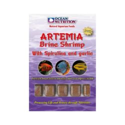 Artemia with spirulina and garlic