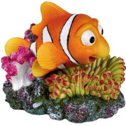 Clownfish + coral, air pump outlet 12cm