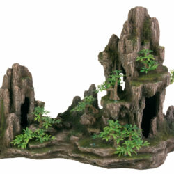 Rock foramtion with cave plants 45cm