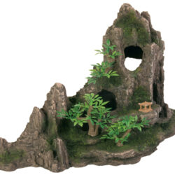 Rock formation with caves plants 27cm