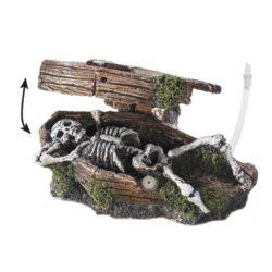 Coffin Skeleton bubble action 14,5 cm